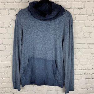 Guess plaid cowl neck sweatshirt
